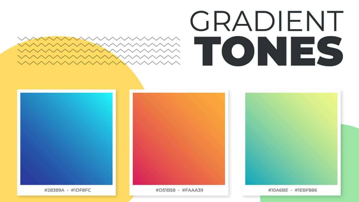 стильная инфографика модных цветовых палитр