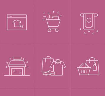 Векторные иконки для электронной коммерции