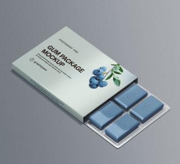 Макет упаковки жевательной резинки