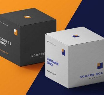 PSD макет упаковочной коробки