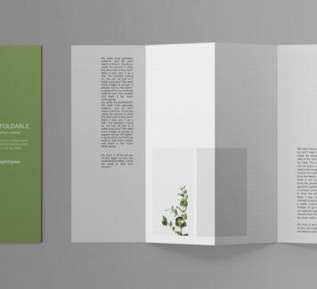 Складной макет брошюры