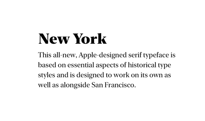 Предварительный просмотр шрифта New York