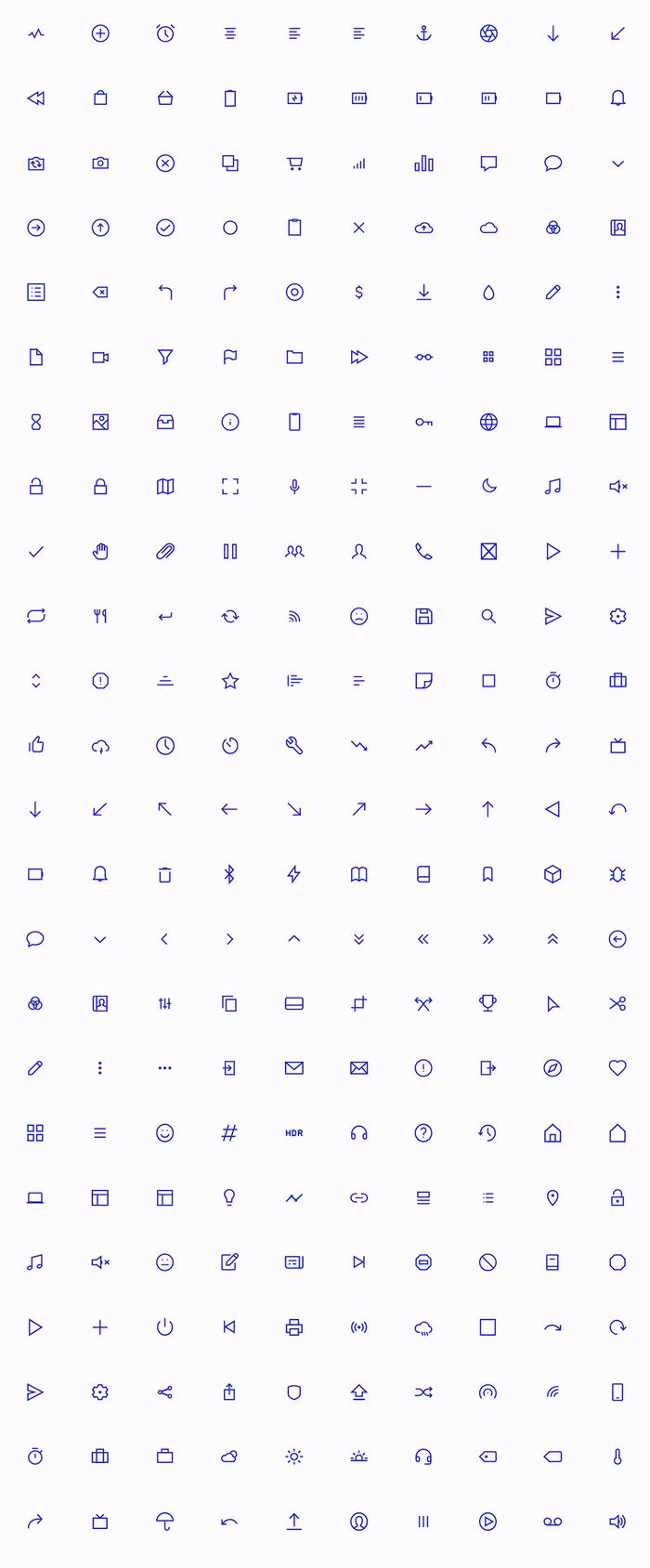 бесплатный набор иконок