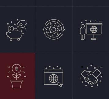 Векторные бизнес-иконки