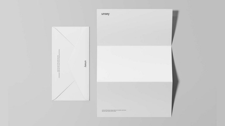 Letterhead Envelope Mockup