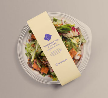 Макет прозрачного контейнера для пищевых продуктов