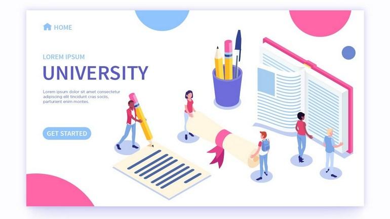 Векторные иконки для университета