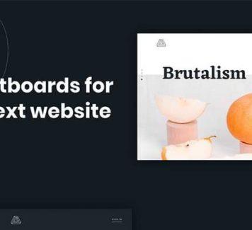 Brutalism: бесплатный веб-набор для Sketch и Figma