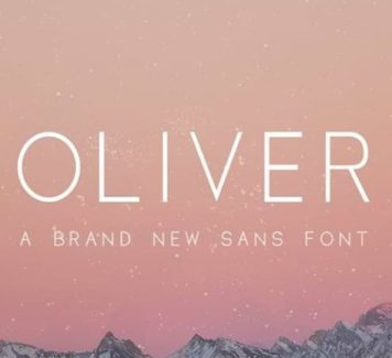 Oliver: бесплатный шрифт без засечек