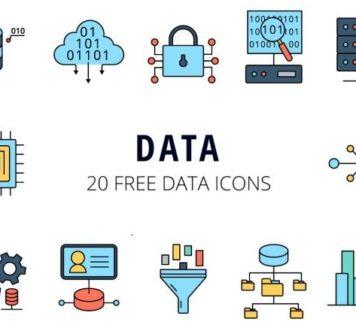 Векторный набор иконок данных