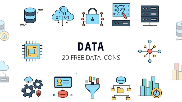 Data Vector Free Icon Set
