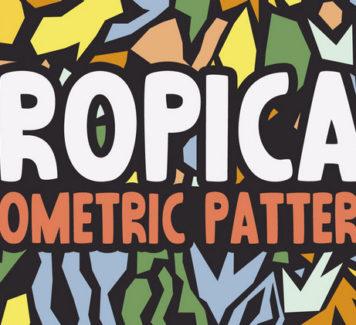 Абстрактные тропические узоры и минималистичные векторы