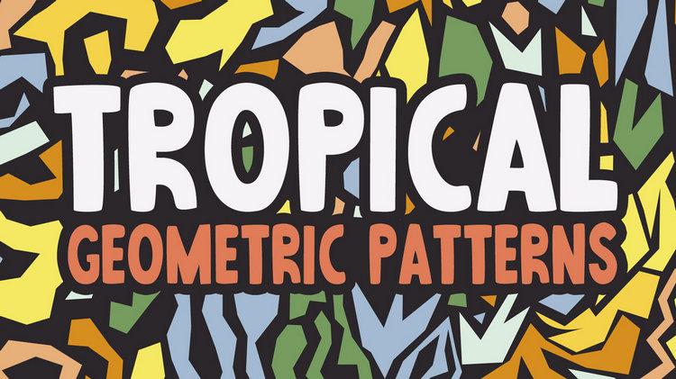 Абстрактные тропические узоры
