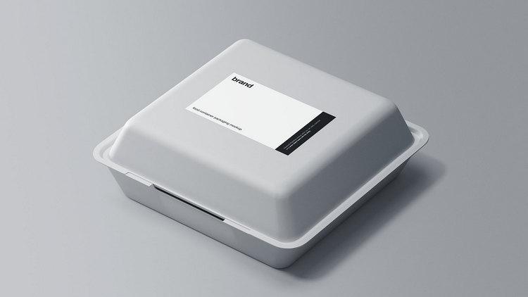 Макет контейнера для упаковки пищевых продуктов