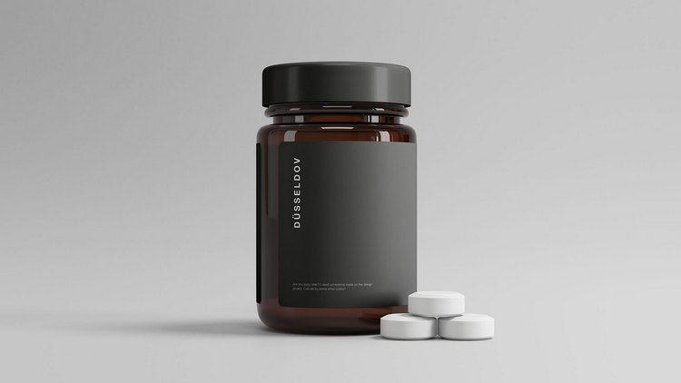 Макет бутылочки для таблеток