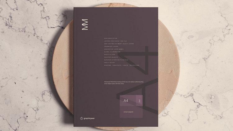 Макет обложки журнала А4