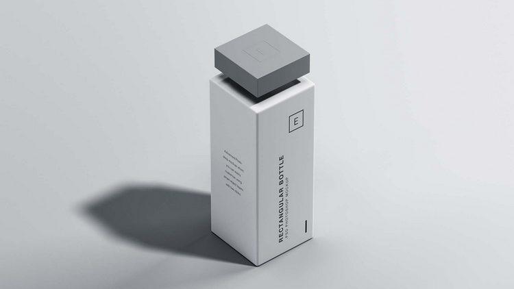 Макет прямоугольной бутылки