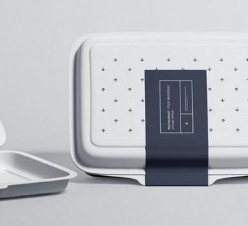Макет пищевой упаковки для ресторана