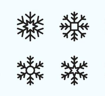 Векторные иконки снежинок