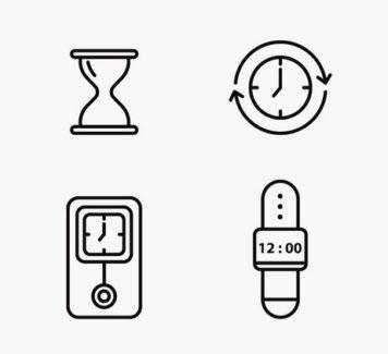 Векторные иконки времени