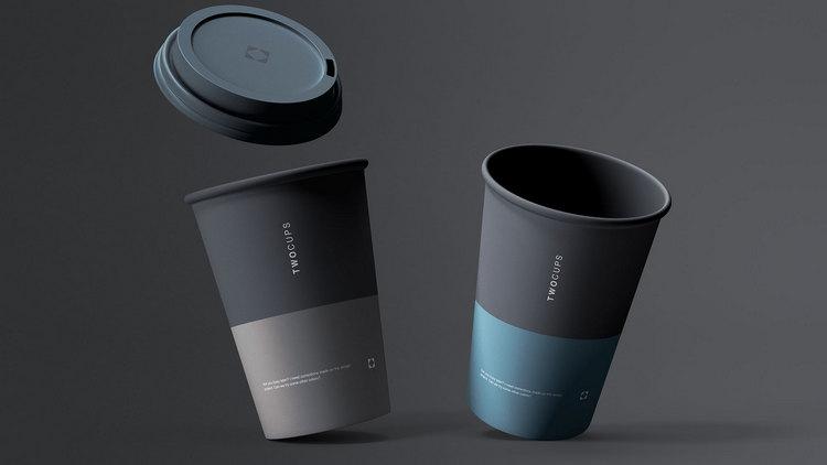 Макет кофейных чашек