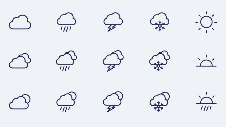 Векторные иконки погоды