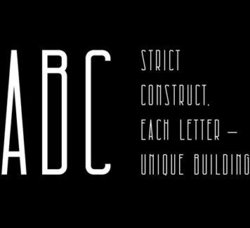 Architectural: бесплатный сжатый шрифт