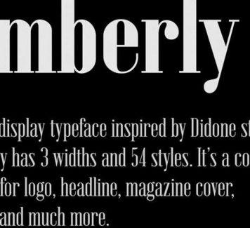 Emberly: бесплатный шрифт в 54 стилях