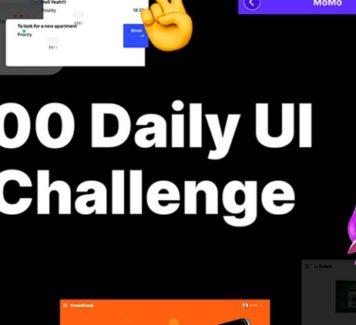 Большая коллекция элементов 100 Daily UI Challenge