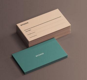 Классический макет визиток