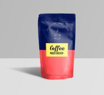 Макет пакетика с кофе