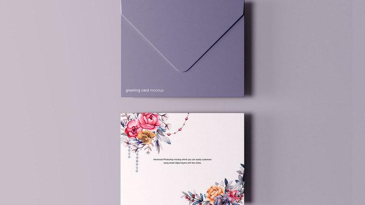 Поздравительная открытка с конвертом