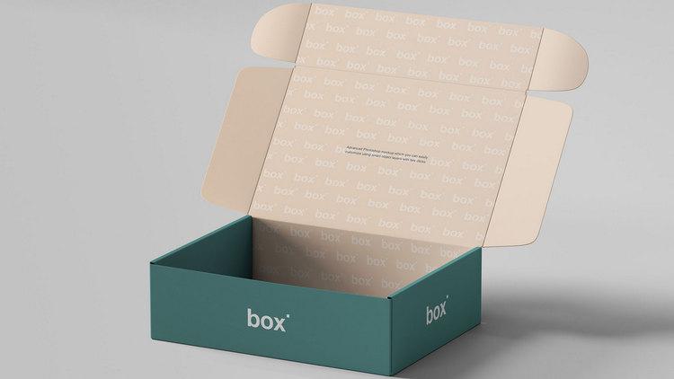 Макет закрывающейся коробочки