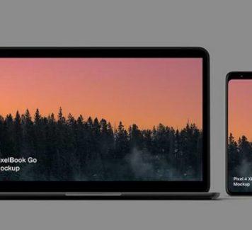 Макеты Pixel 4 и Pixelbook Go