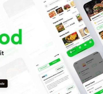 Comida: бесплатный UI Kit для приложений доставки еды