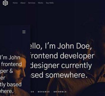 Ethos: бесплатный портфолио HTML-шаблон