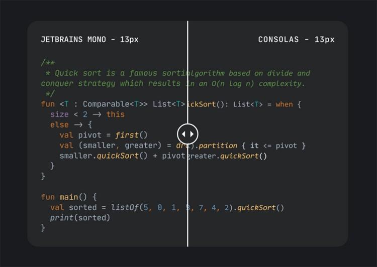 шрифт для разработчиков
