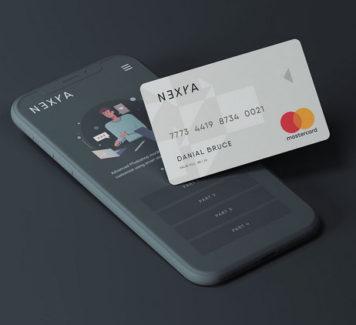 Макет телефона с кредитной картой