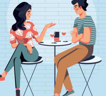 Иллюстрация знакомства