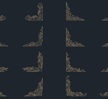 Декоративные элементы дизайна углов