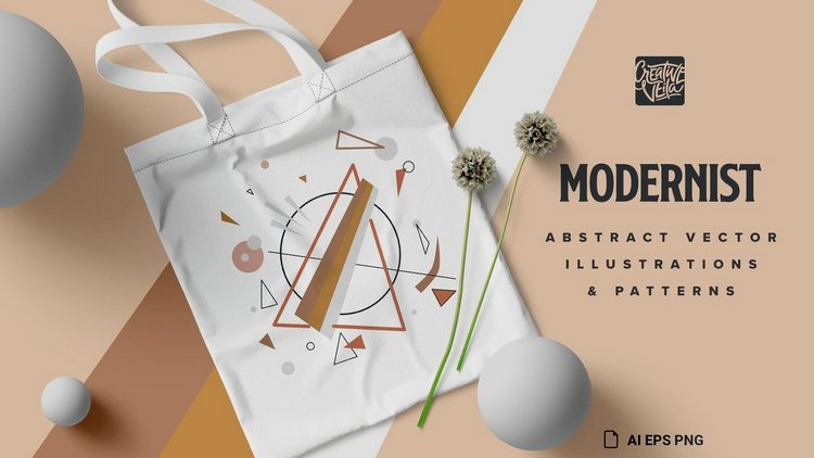 Модернистский абстрактный вектор и набор шаблонов