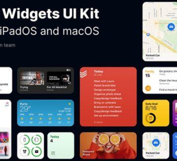 Пользовательский интерфейс виджетов iOS 14 для Figma