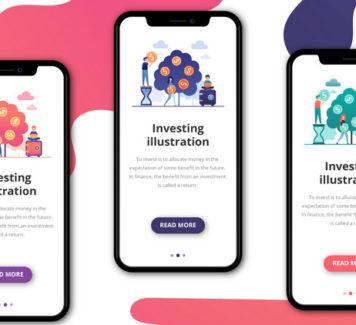 Векторные иллюстрации на тему инвестирования