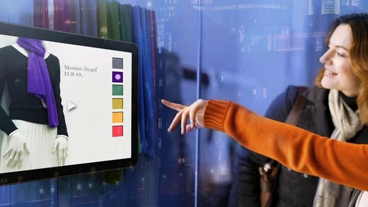 интерактивные рекламные витрины