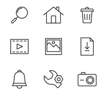 Набор базовых векторных иконок