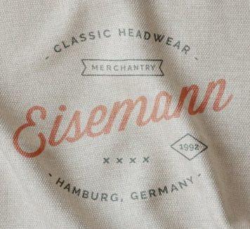 Макет логотипа с принтом на ткани
