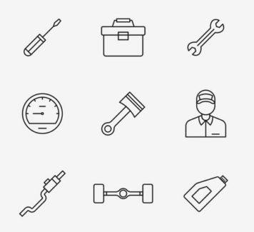 20 векторных иконок механической тематики