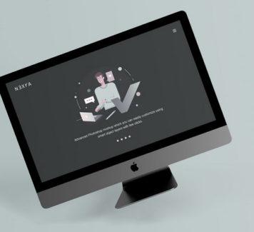 Мокап презентации веб-сайта