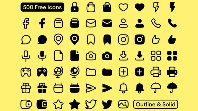 Basil: 500 векторных иконок