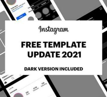 PSD-шаблон Instagram GUI